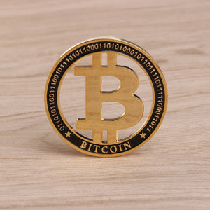 Commemorative Coin Plated Gold Hollow Design Bitcoin BTC For Souvenir Art Collection Drop Shipping Support