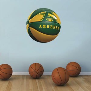 Amherst Comets GREEN and GOLD basketball Wall Mascot™ 3 SIZES