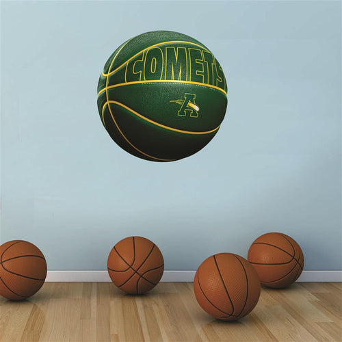 Amherst Comets GREEN basketball Wall Mascot™ 3 SIZES
