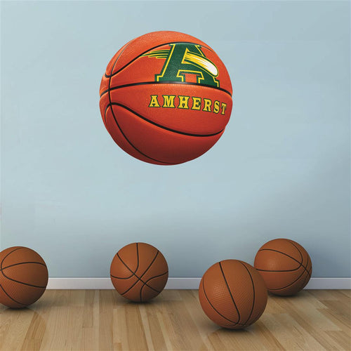 Amherst Comets ORANGE basketball Wall Mascot™ 3 SIZES
