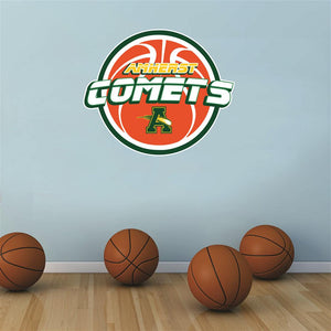 Amherst Comets basketball Wall Mascot™ 3 SIZES