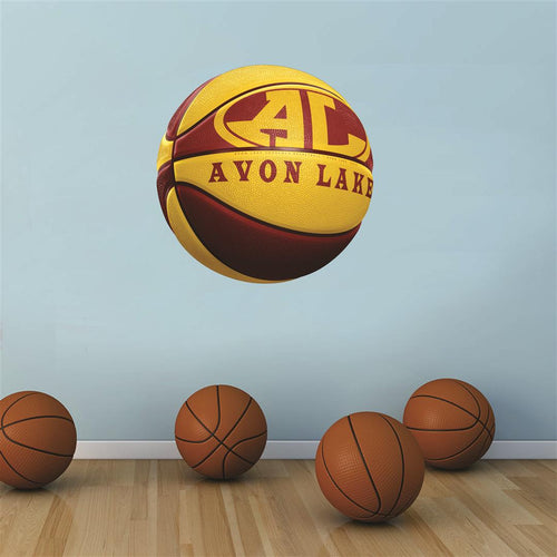 Avon Lake Shoremen MAROON and GOLD basketball Wall Mascot™ 3 SIZES
