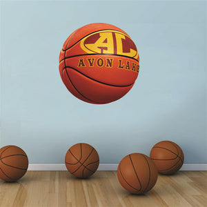 Avon Lake Shoremen ORANGE basketball Wall Mascot™ 3 SIZES