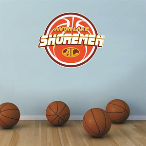 Avon Lake Shoremen basketball Wall Mascot™ 3 SIZES