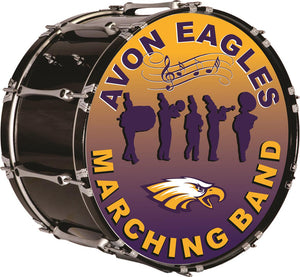 Avon Eagles Marching Band Drum Wall Mascot™