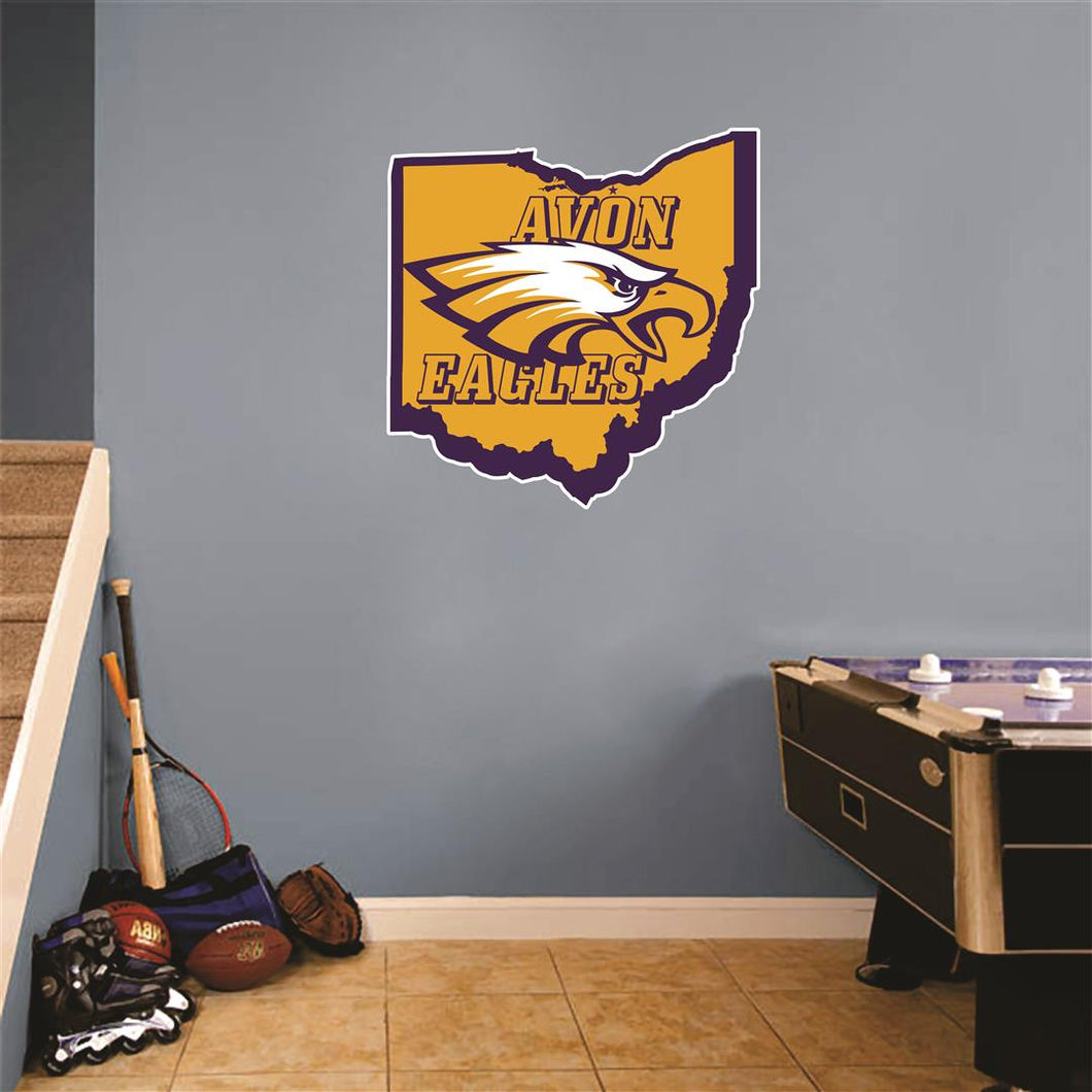 Avon Eagles Ohio Wall Mascot™ Version 1