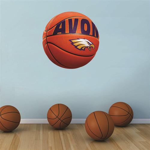 Avon Eagles ORANGE basketball Wall Mascot™ 3 SIZES