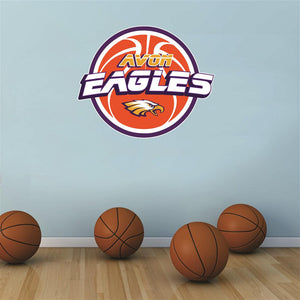 Avon Eagles basketball Wall Mascot™ 3 SIZES