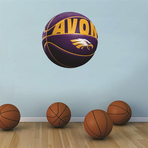 Avon Eagles PURPLE basketball Wall Mascot™ 3 SIZES
