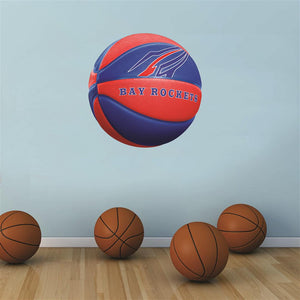 Bay Village Rockets BLUE and RED basketball Wall Mascot™ 3 SIZES
