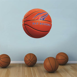 Bay Village Rockets ORANGE basketball Wall Mascot™ 3 SIZES
