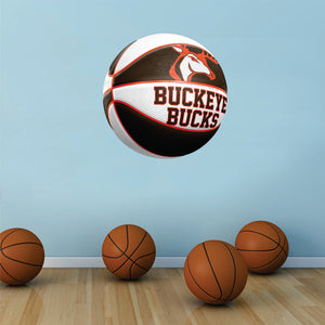 Buckeye Bucks BROWN and WHITE Basketball Wall Mascot™