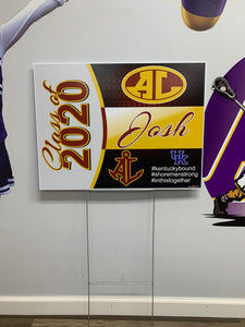 Avon Lake Class of 2020 Yard Sign FREE DELIVERY