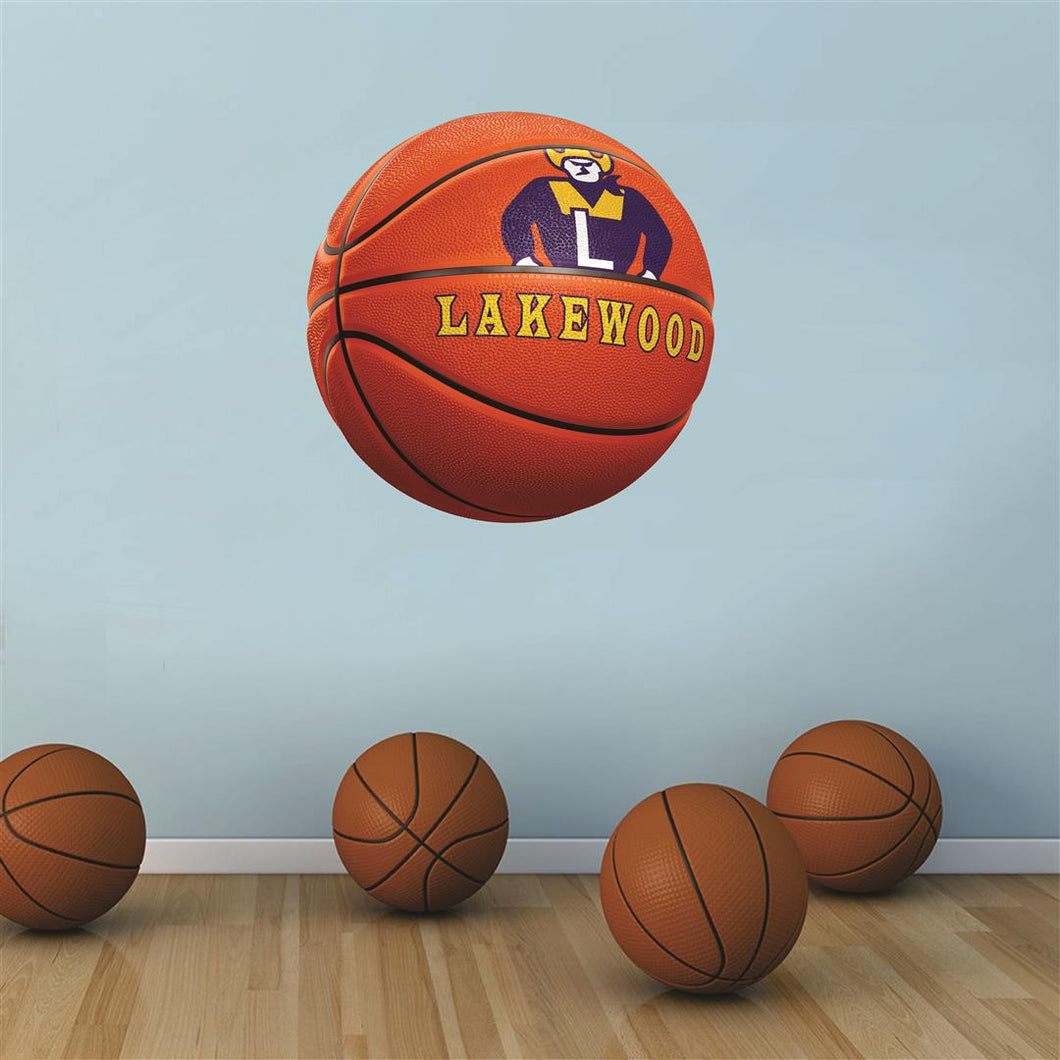 Lakewood Rangers ORANGE basketball Wall Mascot™ 3 SIZES