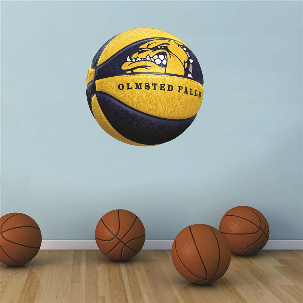 Olmsted Falls Bulldogs BLUE and GOLD basketball Wall Mascot™ 3 SIZES