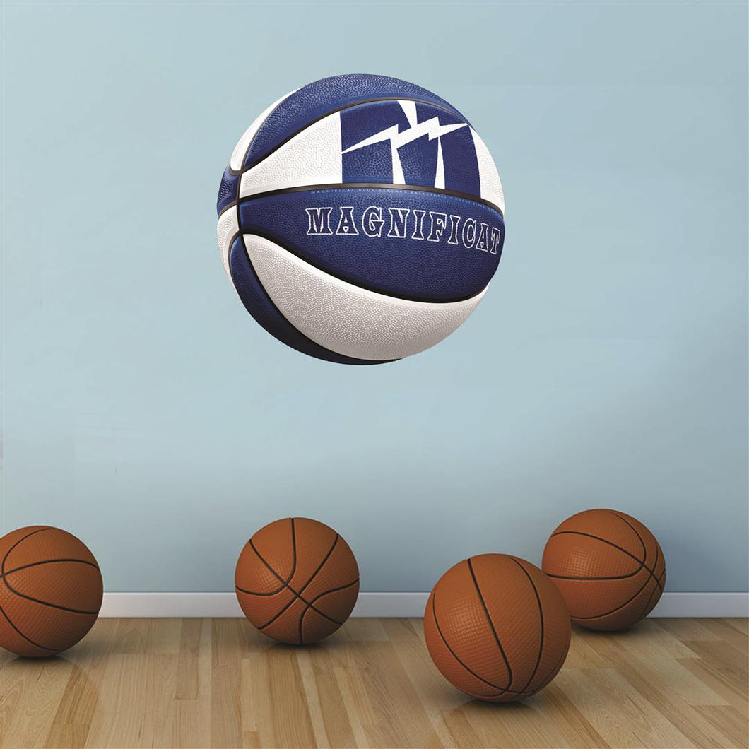 Magnificat Blue Streaks BLUE and WHITE basketball Wall Mascot™ 3 SIZES