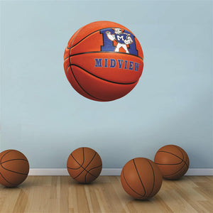 Midview Middies ORANGE basketball Wall Mascot™ 3 SIZES