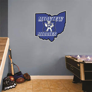 Midview Ohio Map Wall Mascot™ Version 1