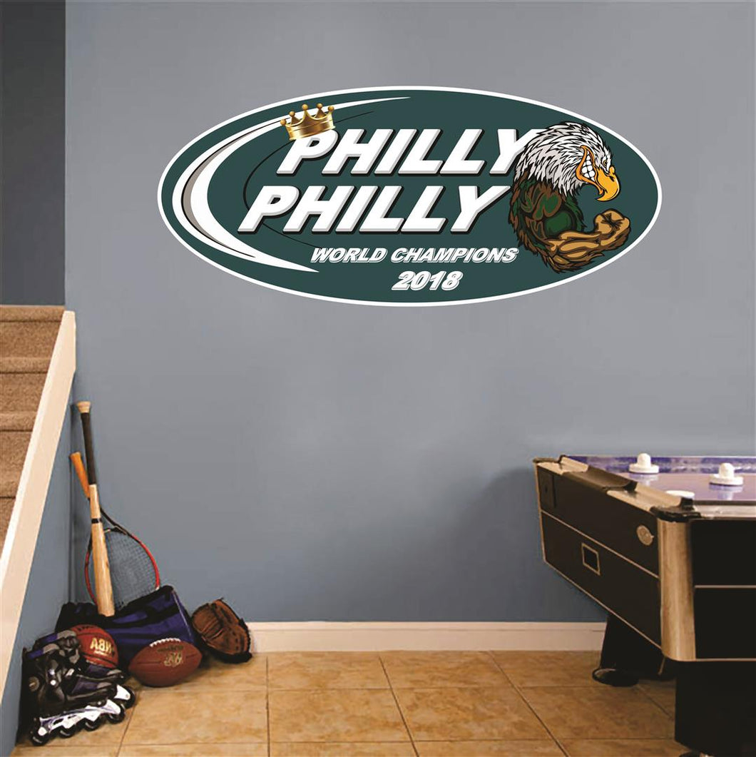 Philly Philly Eagle Wall Mascot™ 3 SIZE Options