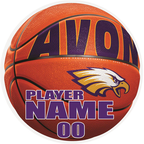 Avon Eagles Basketball Yard Sign - 2 Size Options