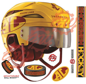Avon Lake Hockey Helmet Wall Mascot™