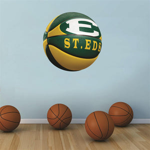 St. Edward Eagles GREEN and GOLD basketball Wall Mascot™ 3 SIZES