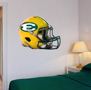 "St Eds Football Helmet Wall Mascot 24""X19"""