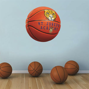 St. Joseph Academy Jaguars ORANGE basketball Wall Mascot™ 3 SIZES