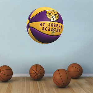 St. Joseph Academy Jaguars PURPLE and GOLD basketball Wall Mascot™ 3 SIZES