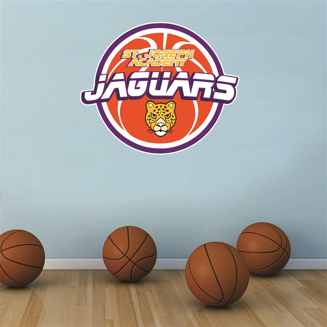 St. Joseph Academy Jaguars basketball Wall Mascot™ 3 SIZES