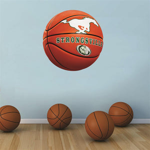 Strongsville Mustangs ORANGE basketball Wall Mascot™ 3 SIZES