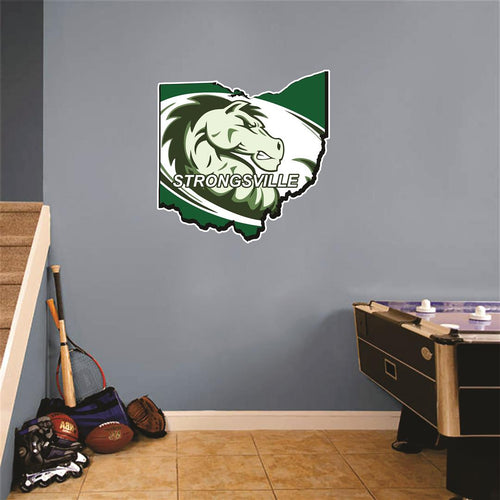 Strongsville Ohio Map Wall Mascot™ Version 2