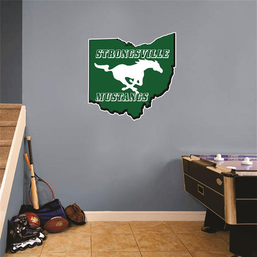 Strongsville Ohio Map Wall Mascot™ Version 1