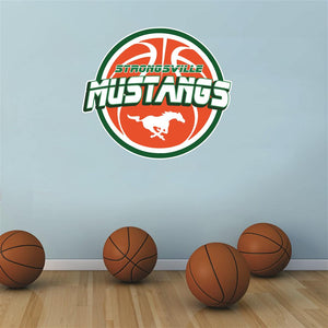 Strongsville Mustangs basketball Wall Mascot™ 3 SIZES