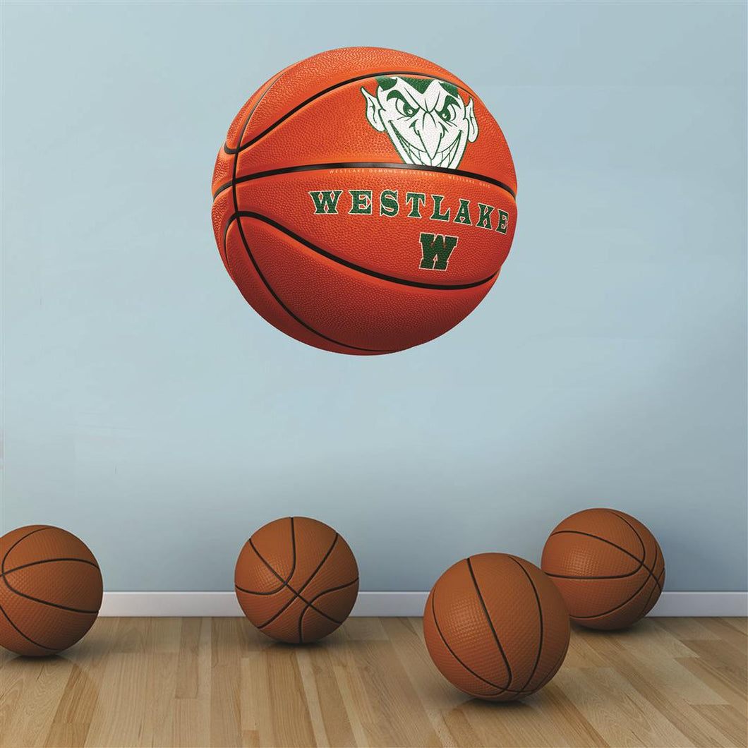 Westlake Demons ORANGE basketball Wall Mascot™ 3 SIZES