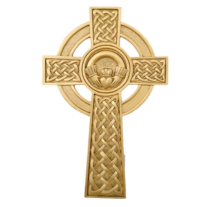 Celtic Gold Claddagh Cross Wall Mascot™
