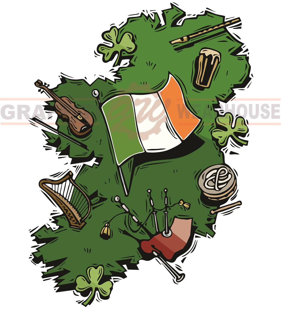 Images Of Map Of Ireland.Ireland Map Wall Mascot