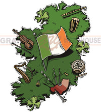 Ireland Map Wall Mascot™