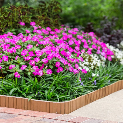 Image of Nutmeg Flexible Poly Landscape Edging (6-Pk) 15' of Edging