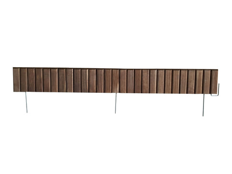 Brown Wooden Landscape Edging (8-Pk) 20' of Edging