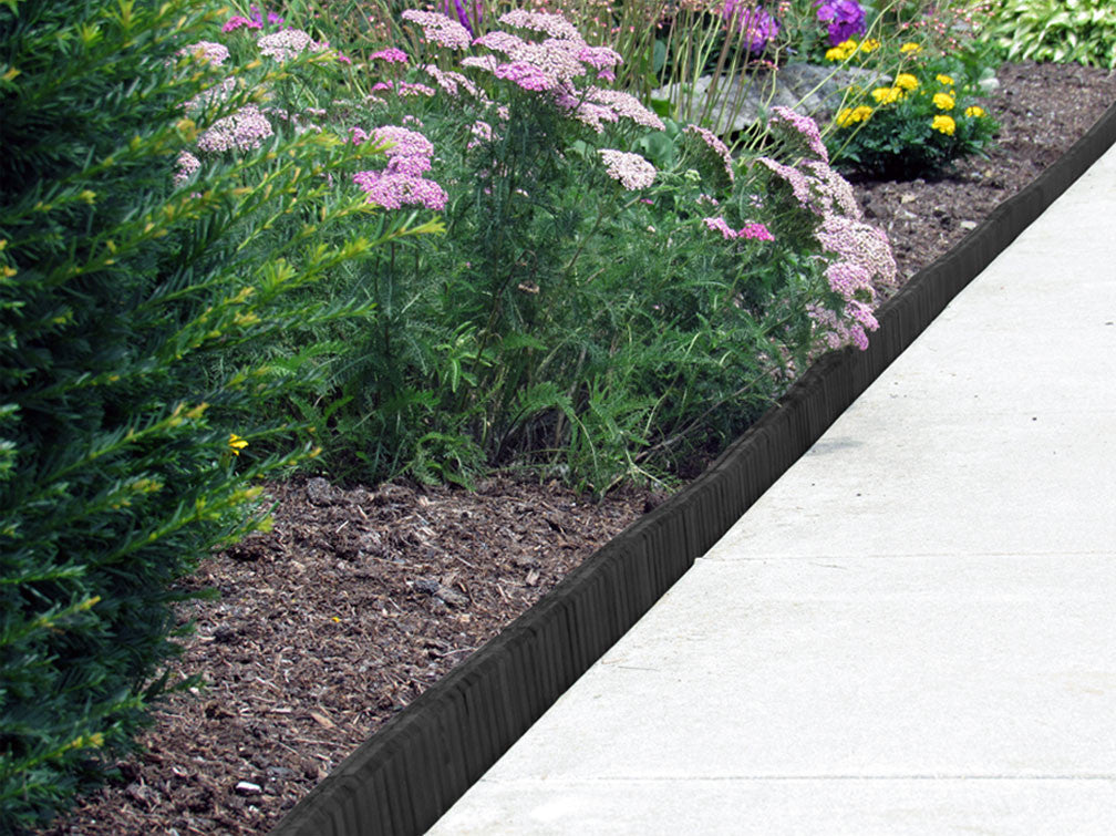 Black Flexible Poly Landscape Edging (6-Pk) 15' of Edging ...