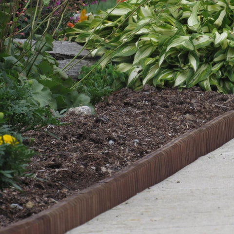 Image of Brown Wooden Landscape Edging (8-Pk) 20' of Edging