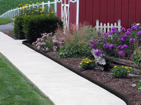 Image of Black Flexible Poly Landscape Edging (6-Pk) 15' of Edging