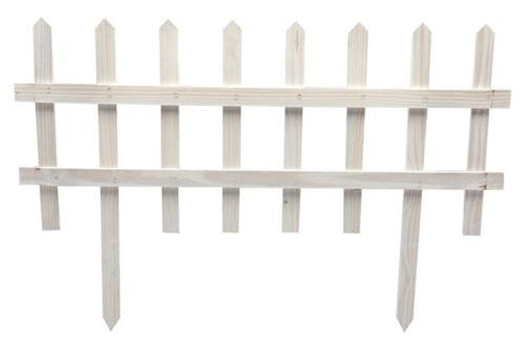 Picket Garden Fence - White - Pack of 6