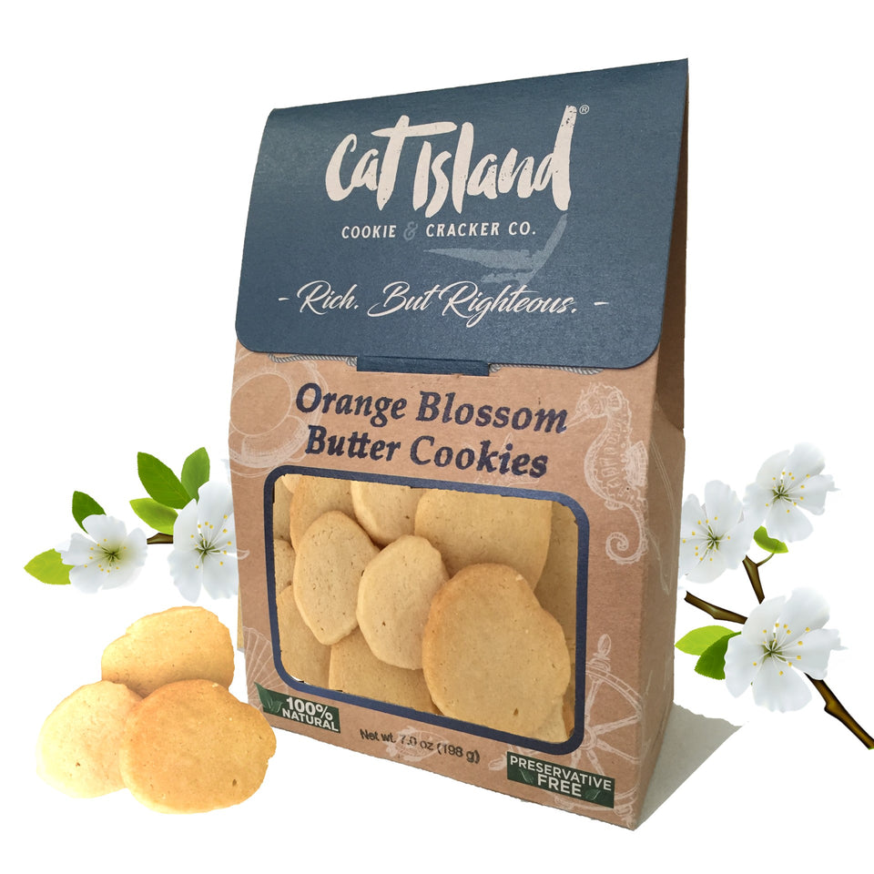 Orange Blossom Butter Cookies