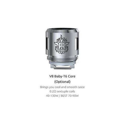 Buy Cheapest  SMOK - TFV8 Baby Coil T6 0.2 ohm 1 Pack of 5 Replacement Coils - Coils by SMOK at Vapour Gallery