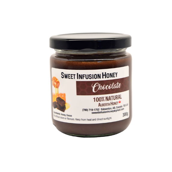 300g jar of sweet infusion chocolate honey