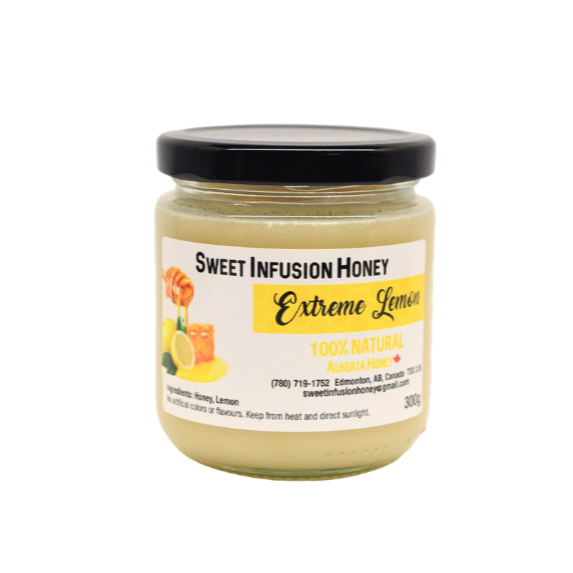 300g jar of sweet infusion extreme lemon Honey