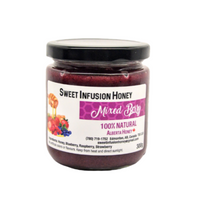 300g Jar of Sweet Infusion Mixed Berry Honey
