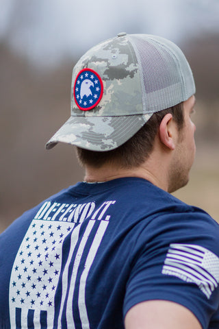 Camo Spangled Eagle Hat